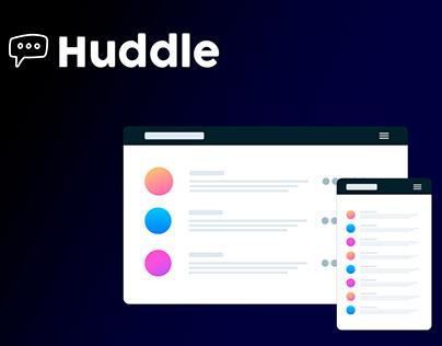 Diseño responsive landing page Huddle