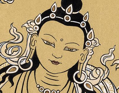 Buddhist thanka