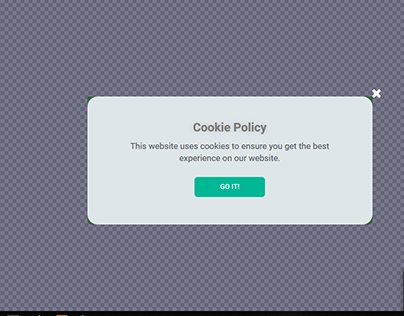 Sapphire Cookie Policy Popup by Elementor Pro -