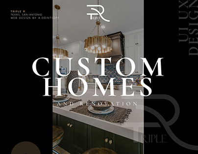 Web design for Luxury house builder in Texas, TRIPLE-R
