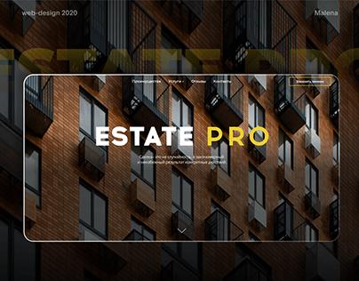 Сайт визитка для компании EstatePro