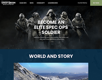 Ghost recon Breakpoint - Website Redesign