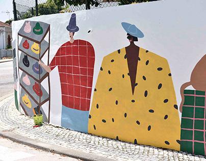 Hat Weekend Mural