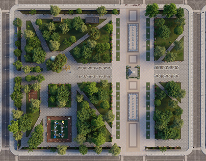 City park reconstruction concept