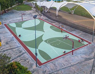 KEJIRANAN - BISHAN basketball court mural