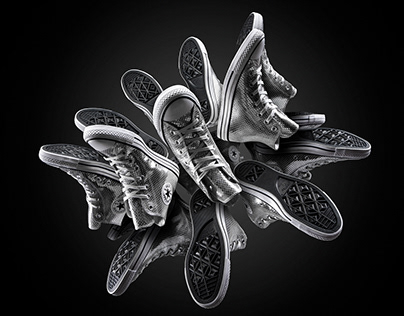 Silver Converse Trainers