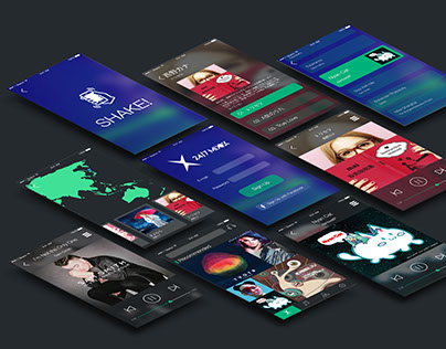 24/7 MIXX - Music App User Interface Design