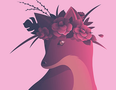 The Fox in the Flower Crown