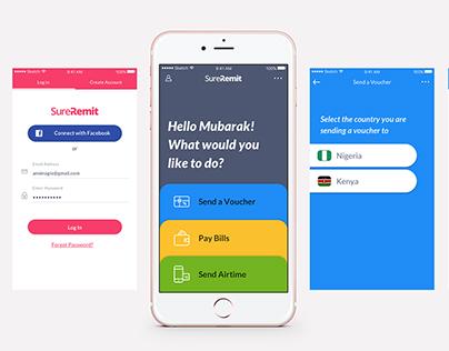 SureRemit Mobile App (iOS & Andorid)