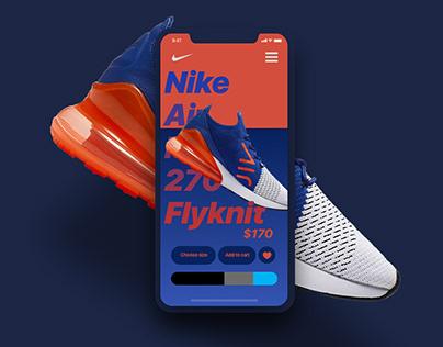 Nike App Interaction Concept