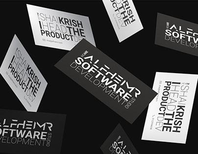 Alfheimr Visual Identity | Minimal Business Card Design
