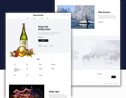 UI Design Challenge - Holiday Spread