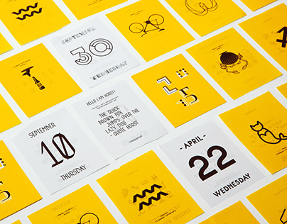 Typodarium 2015 – Daily font calender