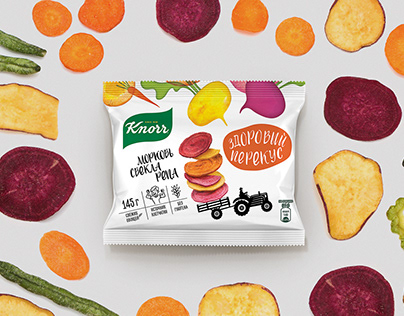 Knorr - crispy vegetable snacks' design