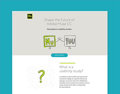 Adobe Muse User Research Recruitment