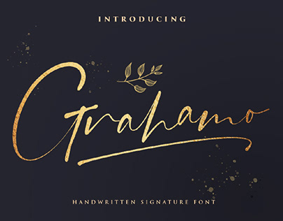 FREE | Grahamo Handwritten Signature Font