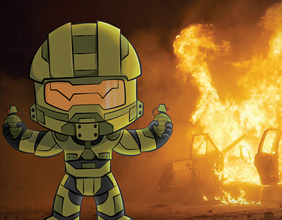 Master Chief from the HALO series