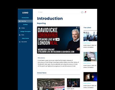 News Web Ui Design