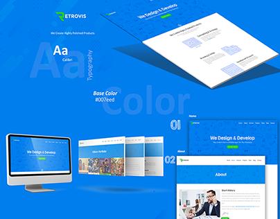 Retrovis Web Development Company Website Design