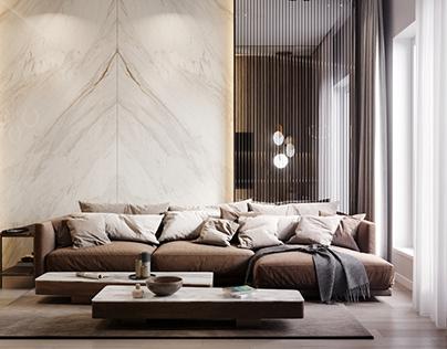 Livingroom 55m2-Moscow