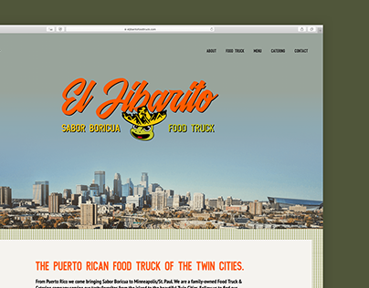 El Jibarito Food Truck Brand Identity & Website Design