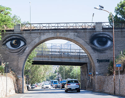 """""""7 DIOTTRIE"""" Wall for Emergence Festival in Sicily."""