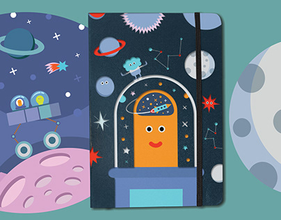 SPACE THEMED NOTEBOOK COVERS