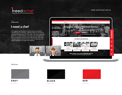 I Need A Chef - Website Design