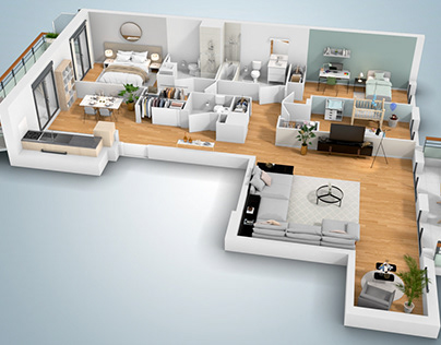 3D Floor Plan + Virtual Visit