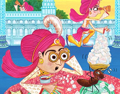 Illustrations for a children's hindi magazine