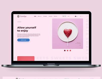 Интернет магазин сладостей. Дизайн сайта