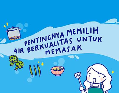 Danone AQUA Activation - Water for Cooking