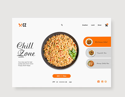Chill Zone Landing Page Design