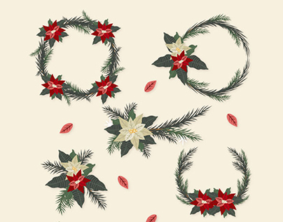Free Christmas Vector Set (Cards, Backgrounds, Patterns