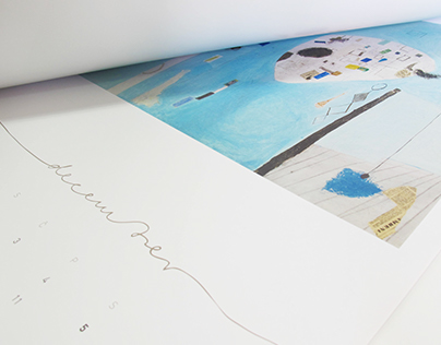 Calendar with Art work of Gabrijel Stupica