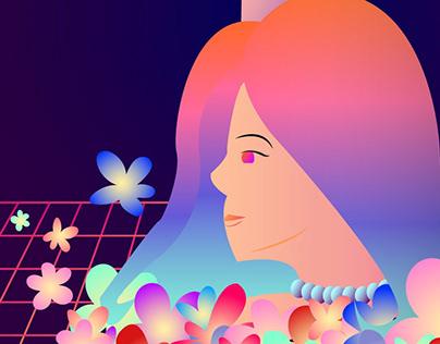 Princesas e Sereias: Princess vaporwave