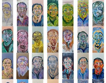 Bachmors self-portrait project 2017. JANUARY 2017