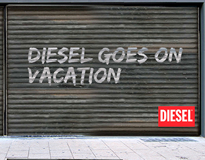 Diesel store goes on vacation