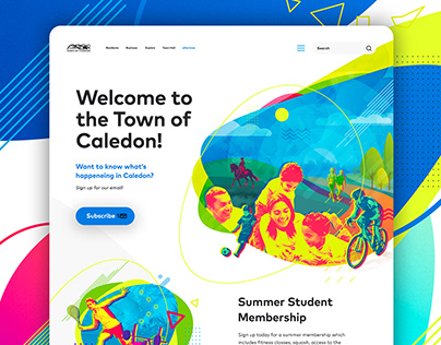 Town of Caledon website re-design