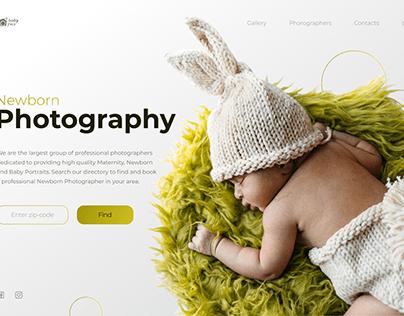 Concept for photographs' web-site