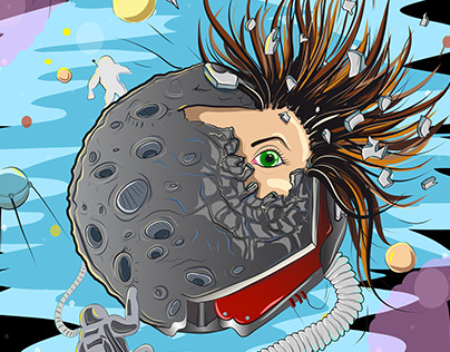 Lunar explosion
