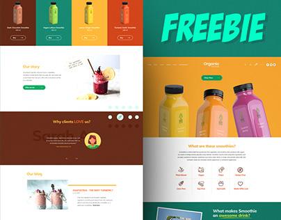 Organic Fresh Food - PSD Freebie