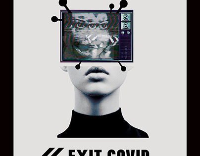 "Cartel ""Covid exit"" Madrid gráfica"