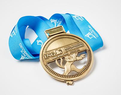 Medaille ING Night Marathon Luxembourg 2017