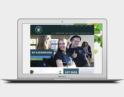 Website design for Danish high school