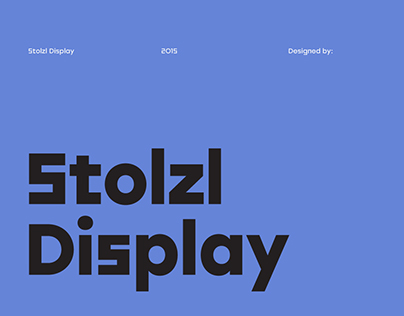 Stolzl Display - Type Family