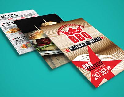 Barbeque Burger Menu