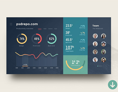 Admin Dashboard UI (sketch + psd)