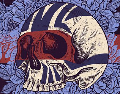 Tribal Flower Skull