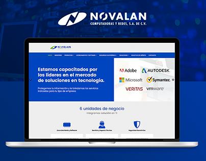 Rediseño de Página web de Novalan